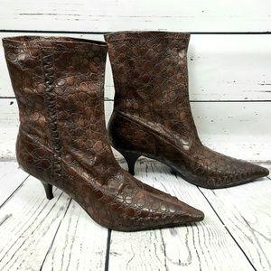 Gianni Bini Reptile Heeled boots size 9